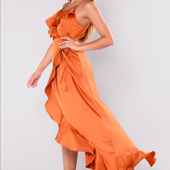 9929e30478 Fashion Nova Dresses   Skirts - Fashionnova Dabria Ruffle Dress - Rust
